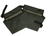 Pocket Large black pockets with small outer zip pocket