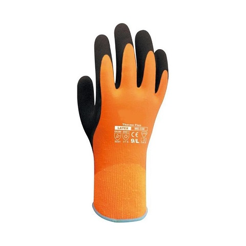 Winter Orange Waterproof Gloves