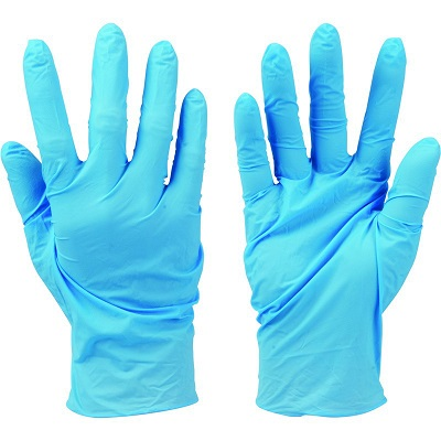 Gloves disposable Pack of 100 Blue Nitrile power free