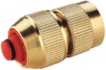 Waterfed Hoselock Brass half inch water stop hose connector