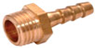 "Hose Reel Brass  6mm Hose Tail with 1/8"" thread"